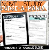Novel Study Book Club Printable: Fudge-a-Mania