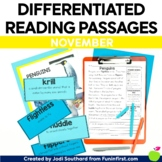 1st Grade Reading Passages for Guided Reading - November