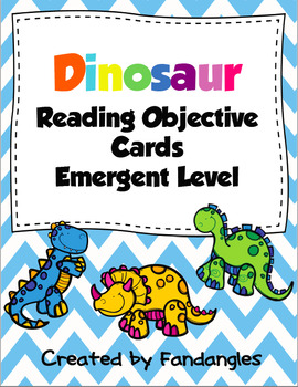 Guided Reading Objective Cards for Emergent Readers