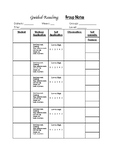Guided Reading Observation Notes