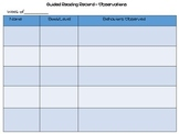 Guided Reading Observation Record Sheet, FREEBIE