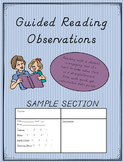 Guided Reading Observations: D'nealian