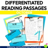 1st Grade Reading Passages for Guided Reading - October