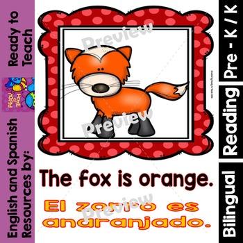 Guided Reading - Orange Color / Color Anaranjado - Dual