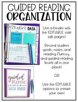 Guided Reading Organization EDITABLE