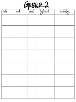 Guided Reading Organization Forms~Freebie!