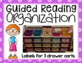 Guided Reading Organization EDITABLE {Labels for Large 3 Drawer Cart}