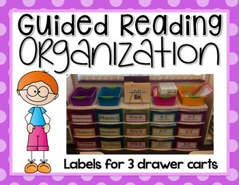 Guided Reading Organization EDITABLE {Labels for Large 3 D