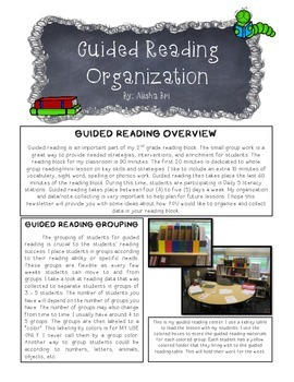 Guided Reading Organization, Lesson Plan Template and Schedule Template