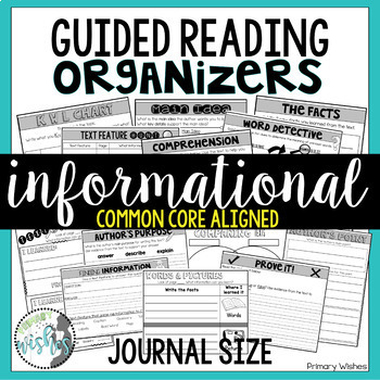Guided Reading Comprehension Organizers - Informational