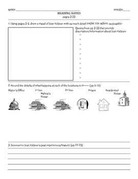 Guided Reading Packet: Les Miserables