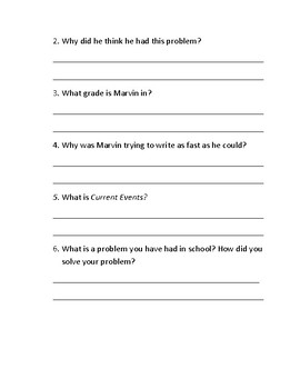 Guided Reading Packet- Marvin Redpost