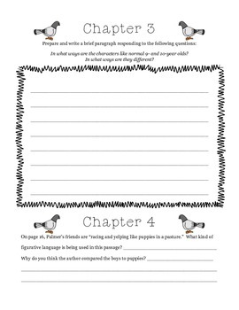 Guided Reading Packet, Wringer part I, Jerry Spinelli