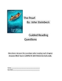 "Guided Reading Packet for ""The Pearl"" by John Steinbeck"