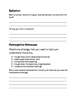 Guided Reading Packet (nonfiction) ANY BOOK!