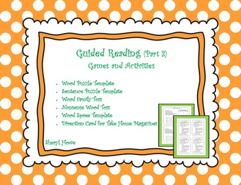 Guided Reading Part 3 -- Games and Activities