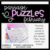 Guided Reading Passage Puzzles- February Cloze Reading