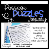 Guided Reading Passage Puzzle   Cloze Reading   Google Slides   January   Seesaw