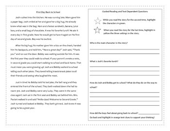 Guided Reading Passages