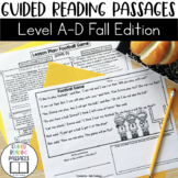 Guided Reading Passages: Fall Edition {Level A-D}