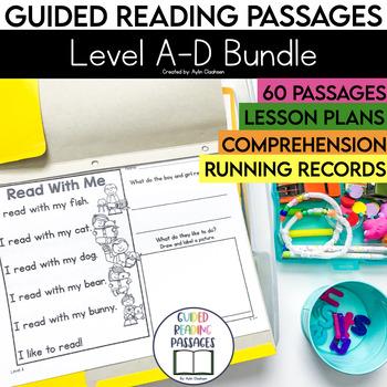 Guided Reading Passages Bundle: Level A-D