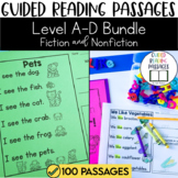 Guided Reading Passages Bundle: Level A-D (Fiction and Non