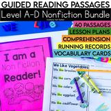 Guided Reading Passages Bundle: Level A-D (Non Fiction)