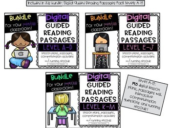 Guided Reading Passages Bundle: Level A-M {Digital and Regular Versions}