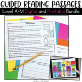 Guided Reading Passages Bundle: Level A-M {Digital and Pri