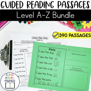 Guided Reading Passages Bundle: Level A-Z