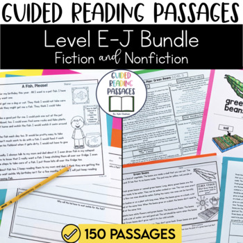 Guided Reading Passages Bundle: Level E-J (Fiction and Non Fiction Editions)