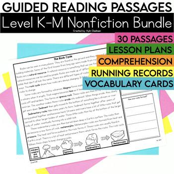 Guided Reading Passages Bundle: Level K-M (Non Fiction)