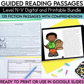 Guided Reading Passages Bundle: Level N-V {Digital and Regular Versions}