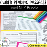 Guided Reading Passages Bundle: Level N-Z