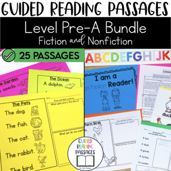 Guided Reading Passages Bundle: Level Pre-A (Fiction & Non Fiction Editions)