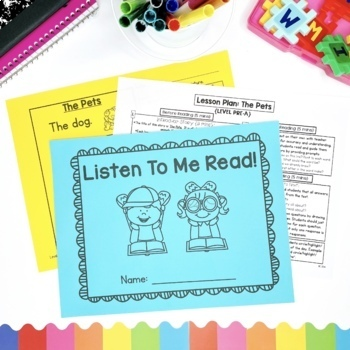 Guided Reading Passages Bundle: Level Pre-A {Regular & Seasonal Editions}