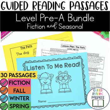 Guided Reading Passages Bundle: Level Pre-A {Regular & Sea