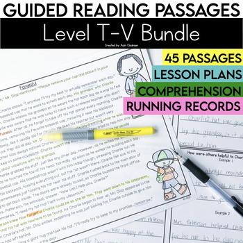 Guided Reading Passages Bundle: Level T-V