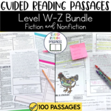 Guided Reading Passages Bundle: Level W-Z (Fiction and Non