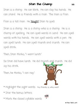 Decodable Phonics Stories & Activities Short Vowels - Orton Gillingham aligned