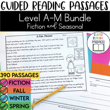 Guided Reading Passages Combo Bundle: Regular & Seasonal E