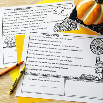 Guided Reading Passages: Fall Edition {Level E-J}