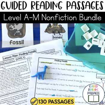 Guided Reading Passages GROWING Bundle: Level A-M (Non Fiction)
