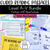 Guided Reading Passages Bundle: Level A-V (Fiction and Non Fiction)