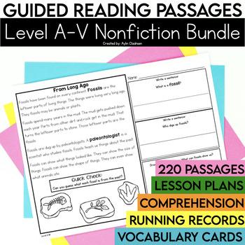 Guided Reading Passages Bundle: Level A-V (Non Fiction)
