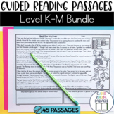 Guided Reading Passages Bundle: Level K-M