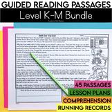Guided Reading Passages Bundle: Level K-M