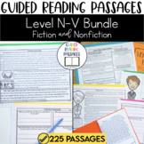 Guided Reading Passages Bundle: Level N-V (Fiction and Non Fiction)