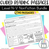 Guided Reading Passages GROWING Bundle: Level N-V (Non Fiction)