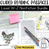 Guided Reading Passages Bundle: Level W-Z (Non Fiction)